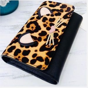 KATE SPADE ♠️NY LEATHER LEOPARD SUMMER BAG/WALLET